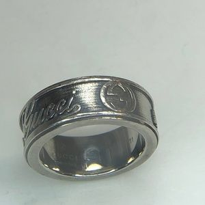 Authentic Gucci ring G logos Silver size 5.75